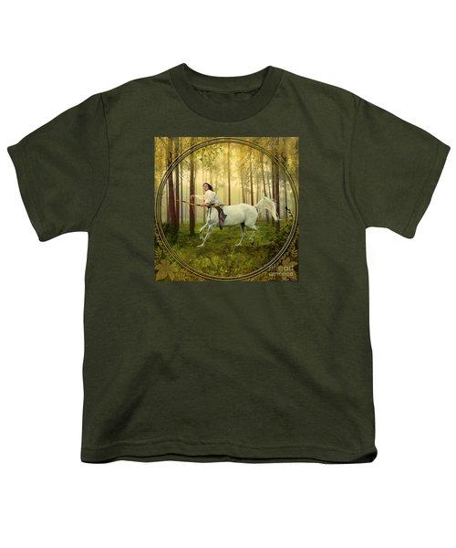 Sagittarius Youth T-Shirt by Linda Lees