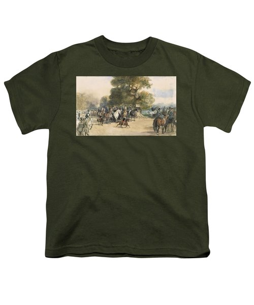 Scene In Hyde Park Youth T-Shirt by Eugene-Louis Lami