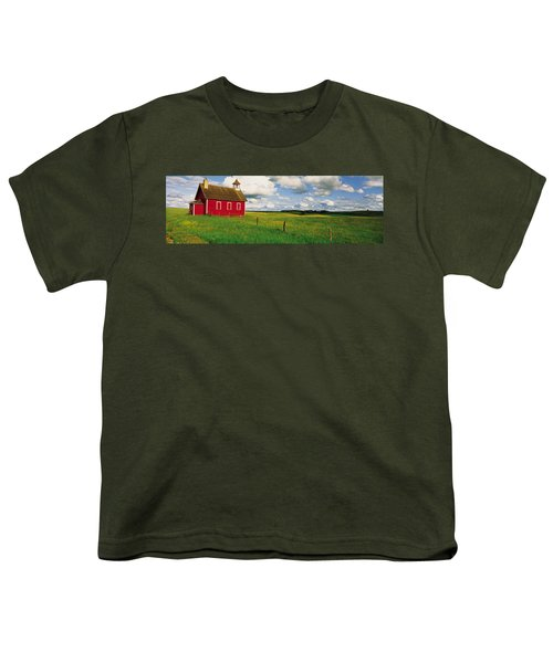 Small Red Schoolhouse, Battle Lake Youth T-Shirt