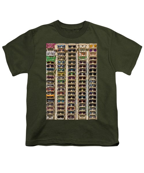 Sunglasses Youth T-Shirt by Peter Tellone