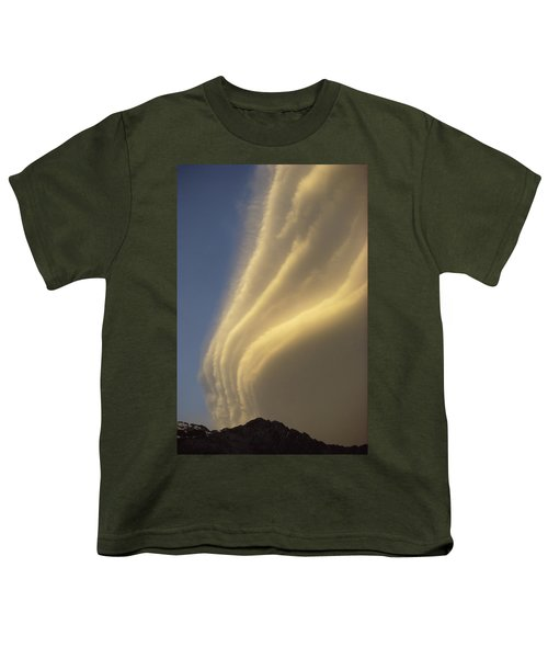Sunset On Storm Clouds Near Mt Cook Youth T-Shirt by Ian Whitehouse