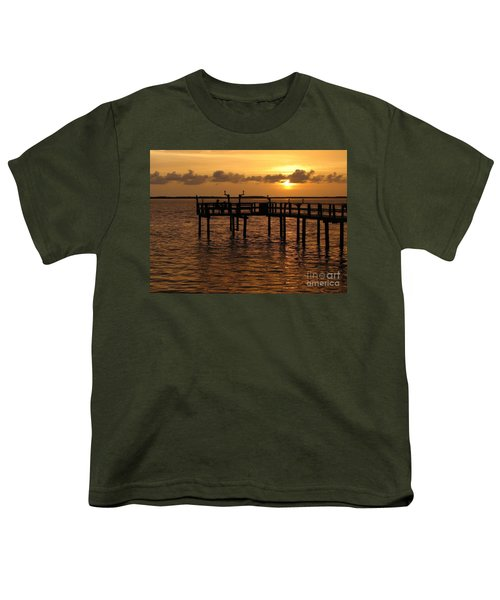 Sunset On The Dock Youth T-Shirt