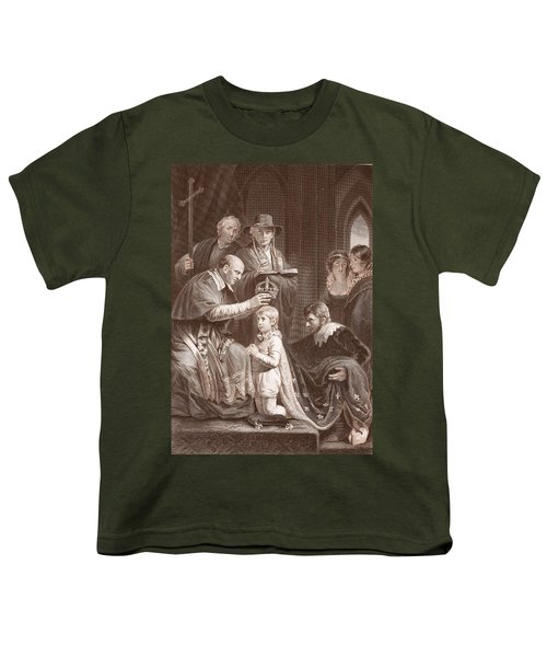 The Coronation Of Henry Vi, Engraved Youth T-Shirt by John Opie