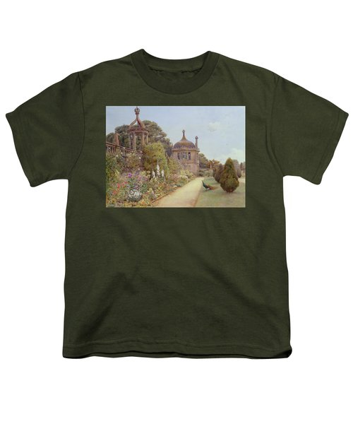 The Gardens At Montacute In Somerset Youth T-Shirt by Ernest Arthur Rowe