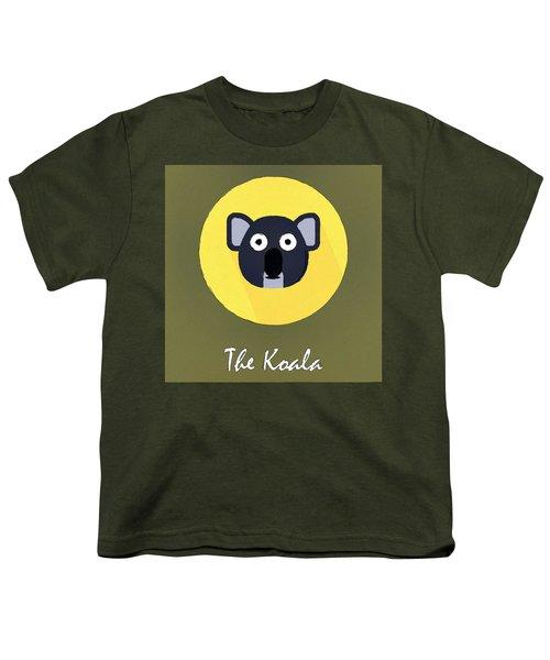The Koala Cute Portrait Youth T-Shirt by Florian Rodarte