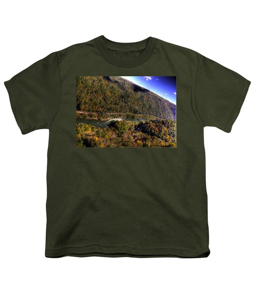 Youth T-Shirt featuring the photograph The River Below by Jonny D