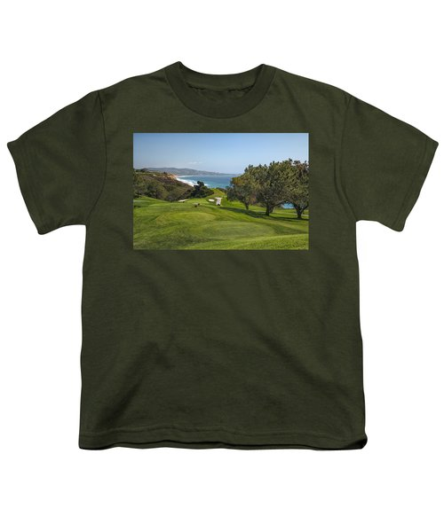 Torrey Pines Golf Course North 6th Hole Youth T-Shirt by Adam Romanowicz