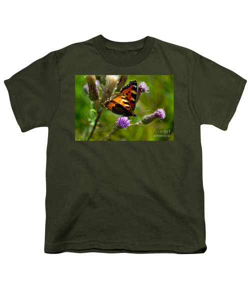 Tortoise Shell Butterfly Youth T-Shirt