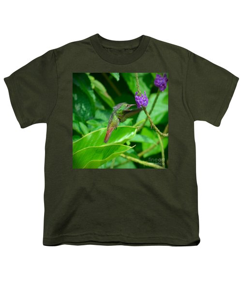 Youth T-Shirt featuring the photograph Tropical Hummingbird by Gary Keesler