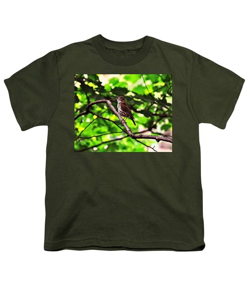 Wood Thrush Singing Youth T-Shirt