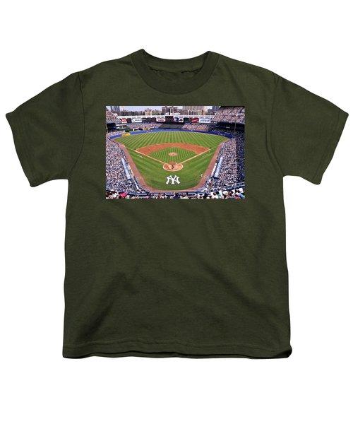 Yankee Stadium Youth T-Shirt by Allen Beatty
