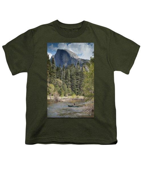 Yosemite National Park. Half Dome Youth T-Shirt by Juli Scalzi