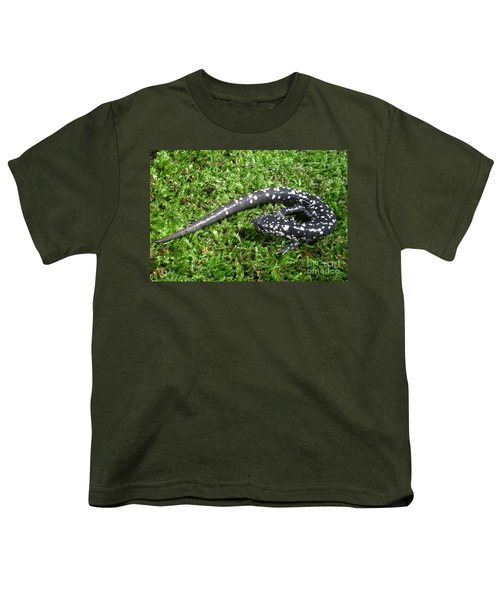 Slimy Salamander Youth T-Shirt by Ted Kinsman