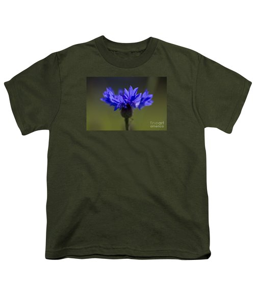 Youth T-Shirt featuring the photograph Cornflower Blue by Clare Bambers