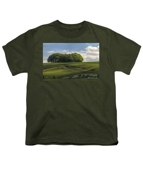 Youth T-Shirt featuring the photograph Hackpen Hill by Clare Bambers