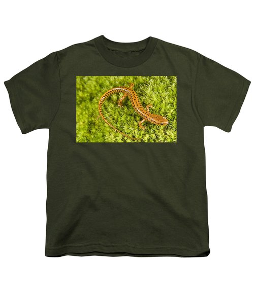 Longtail Salamander Eurycea Longicauda Youth T-Shirt by Jack Goldfarb