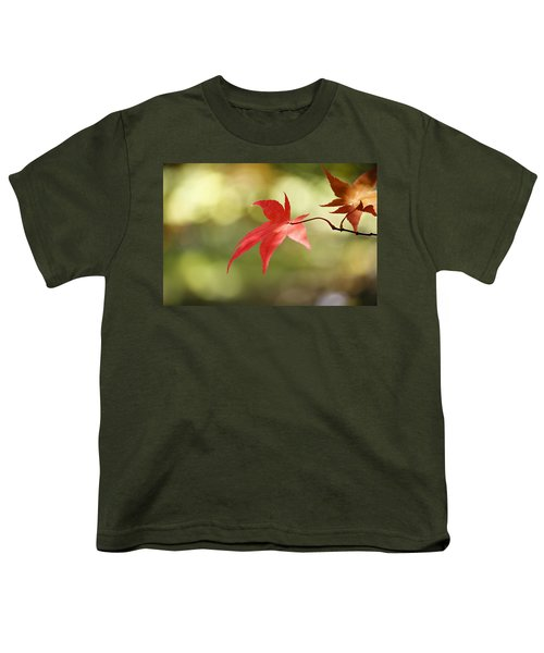Youth T-Shirt featuring the photograph Red Leaf. by Clare Bambers