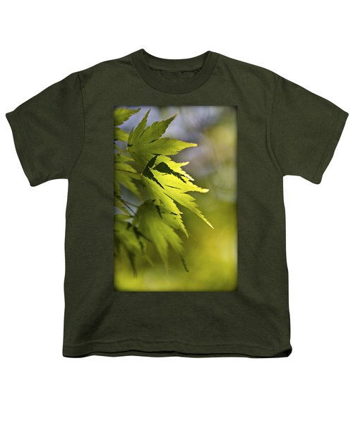 Youth T-Shirt featuring the photograph Shades Of Green And Gold. by Clare Bambers
