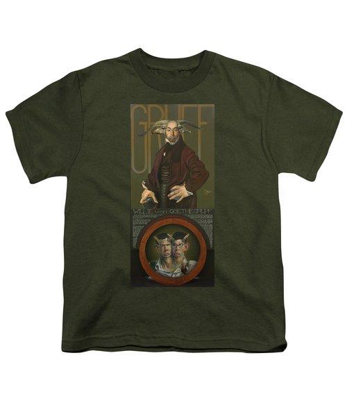 Willie Von Goethegrupf Youth T-Shirt by Patrick Anthony Pierson