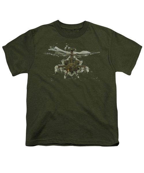 Apache Helicopter Youth T-Shirt by Roy Pedersen