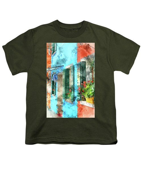 Colorful Houses In Burano Island Venice Italy Youth T-Shirt