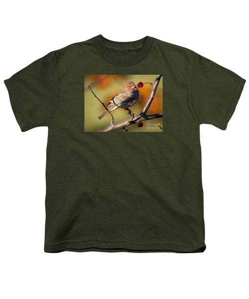 Youth T-Shirt featuring the photograph House Finch by Ricky L Jones