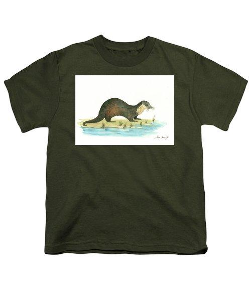Otter Youth T-Shirt by Juan Bosco