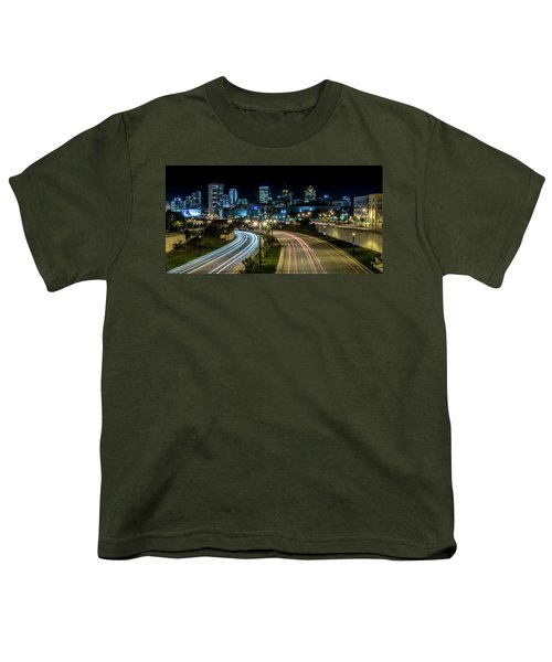Round The Bend Youth T-Shirt by Randy Scherkenbach