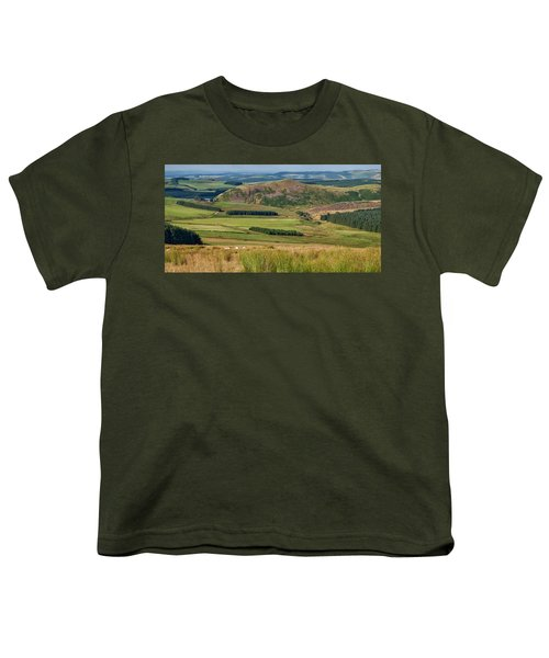 Scotland View From The English Borders Youth T-Shirt by Jeremy Lavender Photography
