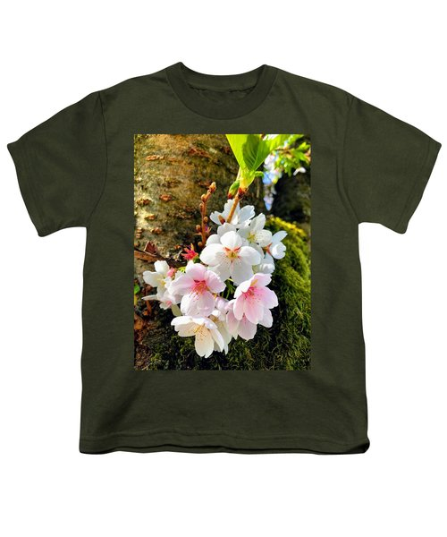 White Apple Blossom In Spring Youth T-Shirt