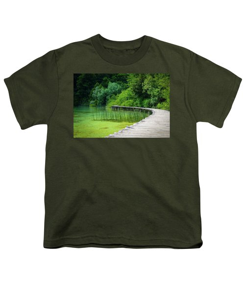 Wooden Path In The Forest Youth T-Shirt