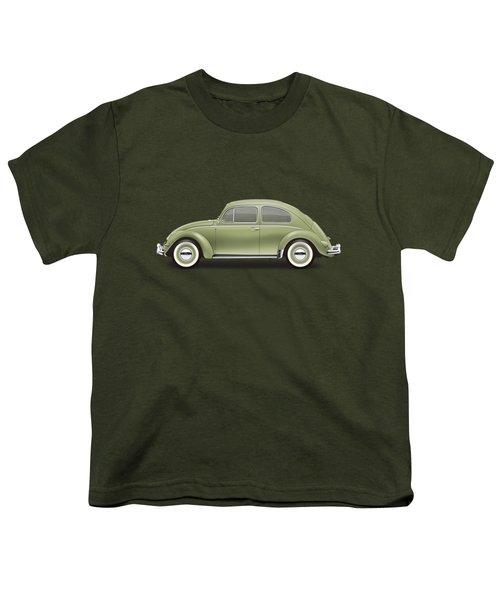 1957 Volkswagen Deluxe Sedan - Diamond Green Youth T-Shirt