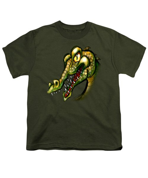 Crocodile Youth T-Shirt by Kevin Middleton