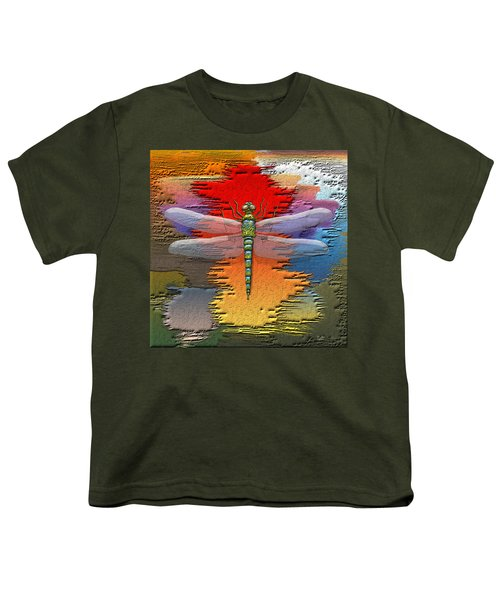 The Legend Of Emperor Dragonfly Youth T-Shirt by Serge Averbukh