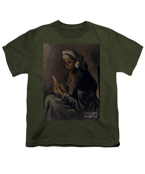 The Potato Peeler, 1885 Youth T-Shirt by Vincent Van Gogh