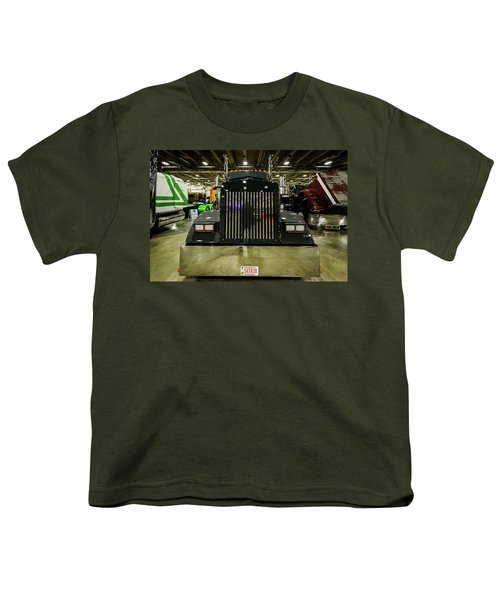 Youth T-Shirt featuring the photograph 2000 Kenworth W900 by Randy Scherkenbach