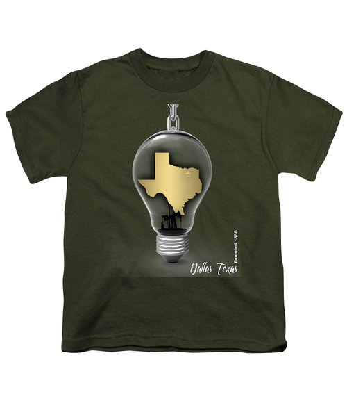 Dallas Texas Map Collection Youth T-Shirt by Marvin Blaine