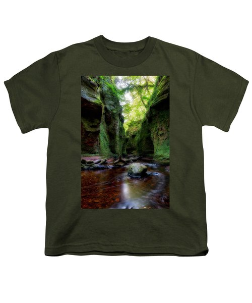 The Devil Pulpit At Finnich Glen Youth T-Shirt