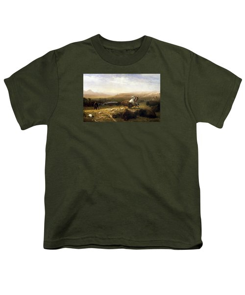 The Last Of The Buffalo  Youth T-Shirt by MotionAge Designs