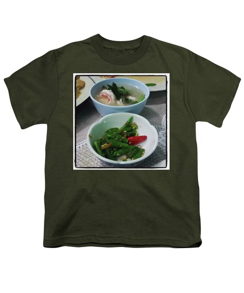 Youth T-Shirt featuring the photograph A Side Of Tom Yum Goon With Your by Mr Photojimsf