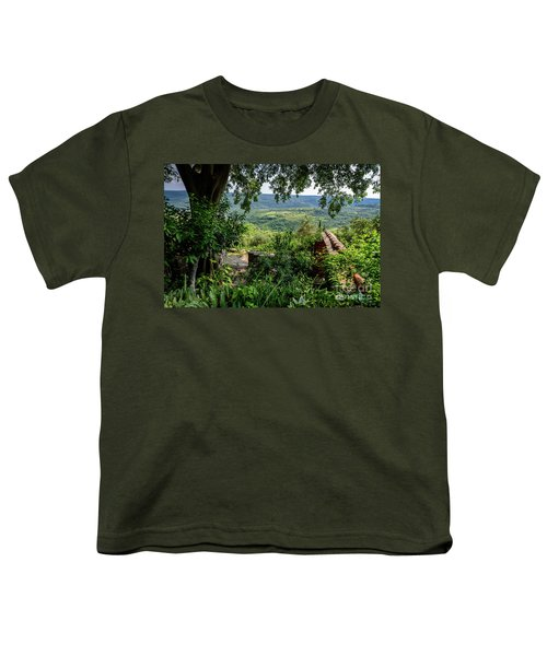 A View From Groznjan Of The Istrian Hill Town Countryside, Istria, Croatia Youth T-Shirt