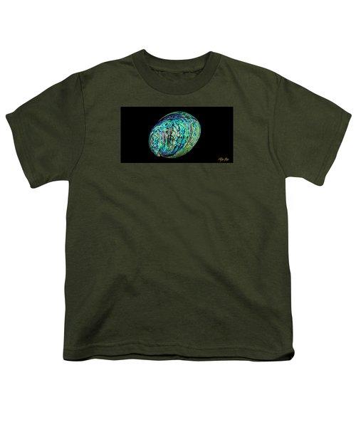 Abalone On Black Youth T-Shirt