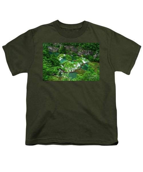 Above The Paths And Waterfalls At Plitvice Lakes National Park, Croatia Youth T-Shirt