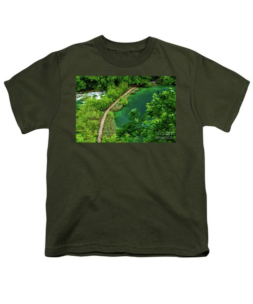 Above The Paths At Plitvice Lakes National Park, Croatia Youth T-Shirt
