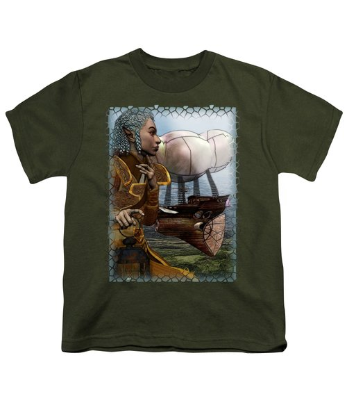 Airship Youth T-Shirt by Sharon and Renee Lozen