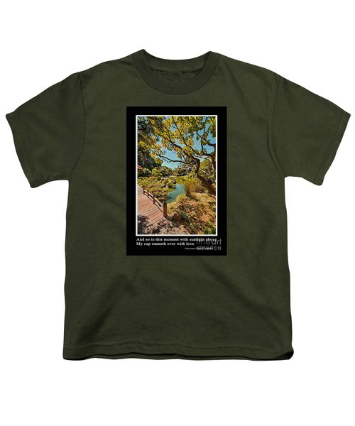 And So In This Moment With Sunlight Above Youth T-Shirt by Jim Fitzpatrick