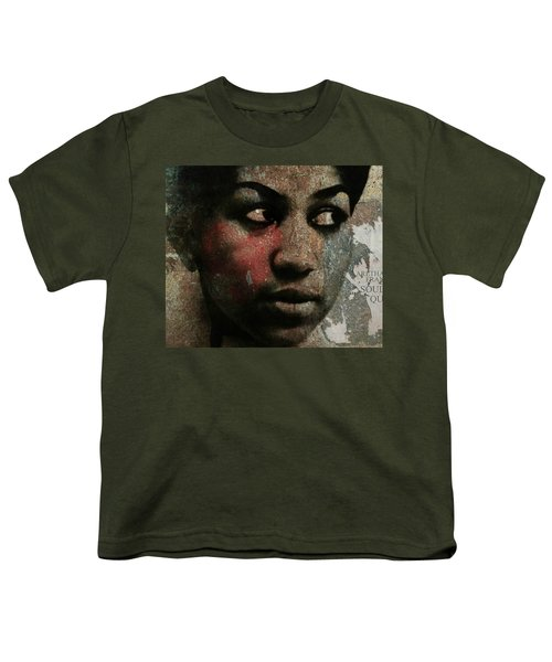 Aretha Franklin - Tribute Youth T-Shirt