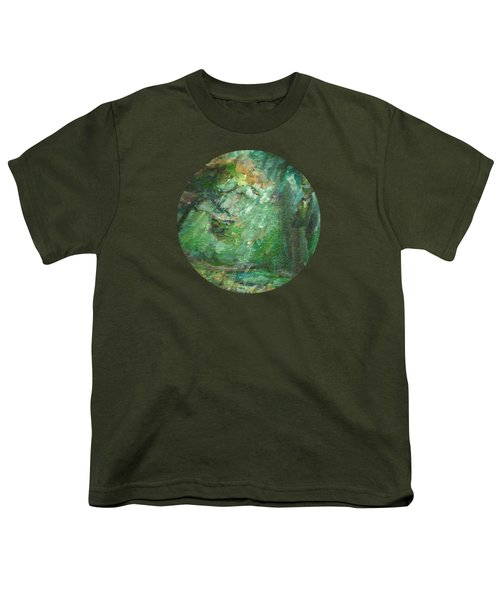 Rainy Woods Youth T-Shirt by Mary Wolf