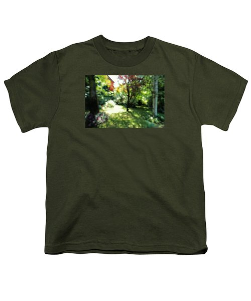 Youth T-Shirt featuring the photograph At Claude Monet's Water Garden 7 by Dubi Roman