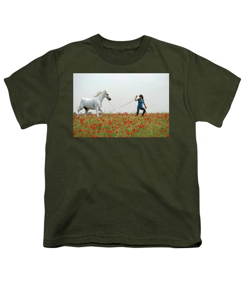 At The Poppies' Field... 2 Youth T-Shirt by Dubi Roman
